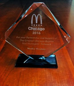 Media Monkey Receives an Award from McDonald's Greater Chicago Mid-Managers Region